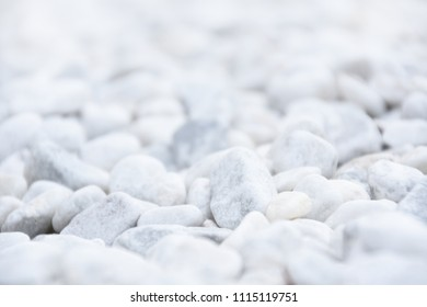 White stones background, bokeh effect