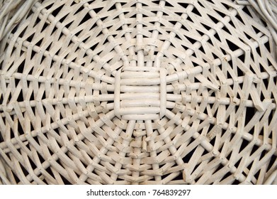 White straw circular pattern, background.
