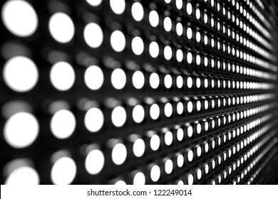White stretch of LED lights
