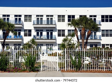 White Stucco Condominium Building
