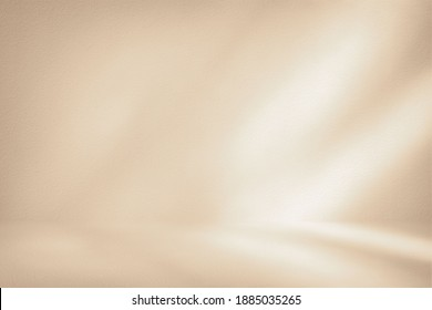 White Stucco Room with Light Beam Background, Suitable for Product Presentation Backdrop, Display, and Mock up. - Shutterstock ID 1885035265