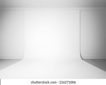 White studio background