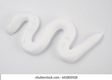white styling foam isolated over white background