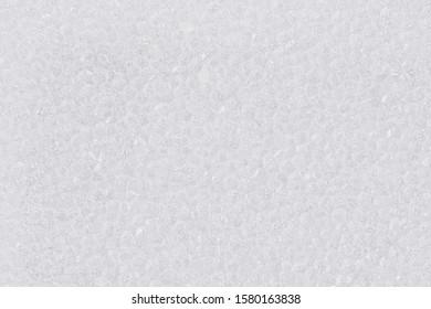 White styrofoam close up. Macro texture and background