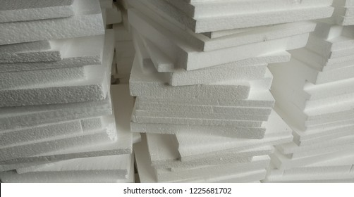 the white styrofoam stack