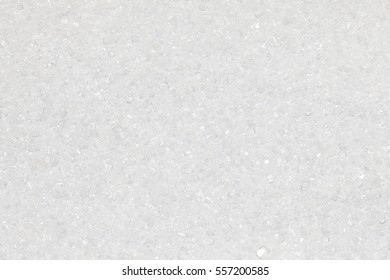 White sugar crystals up-close background