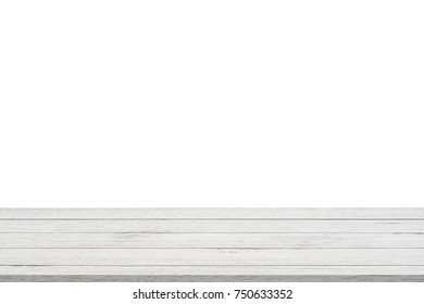 White table isolated on white background.