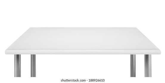White table top, isolated.