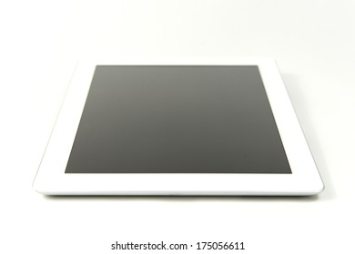White tablet computer