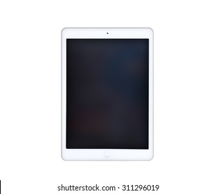 White Tablet Computer In iPad Air Style
