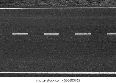 white tarmac asphalt dashed line traffic road texture background