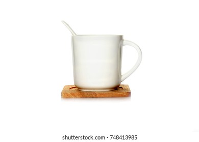 white tea cup isolated on white background