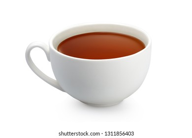 White tea cup on a white background isolated