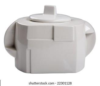 white teapot-transformer