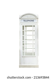 White telephone booth