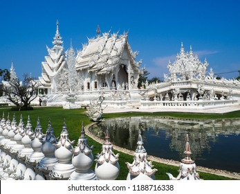 The white temple The enlightment is the white temple in Chiang rai Where represent to heaven