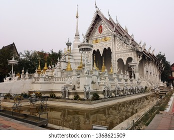 White temple at Lamphang in Thailand