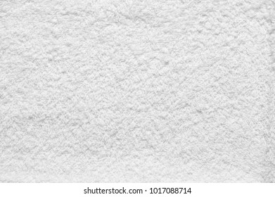 White terry cloth texture as background.