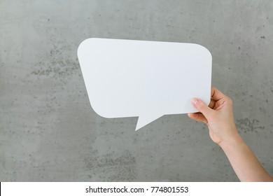 White Text Bubble