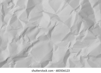 White Texture Wrinkled Paper Can Be Used For Background Or Wallpaper