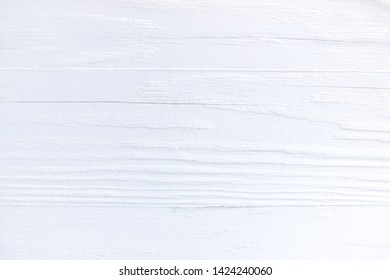 White textured wood background. Empty wooden backdrop with rough surface. Blank wooden backdrop with grungy natural wood plank. Wooden table with a beautiful structure painted in white
