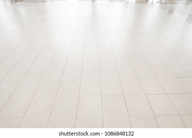 Office Floor Texture On White Tile Floor Texture Inside The Office Building Shot From Side See Tile Floor Texture Inside Office Building Stock Photo edit Now