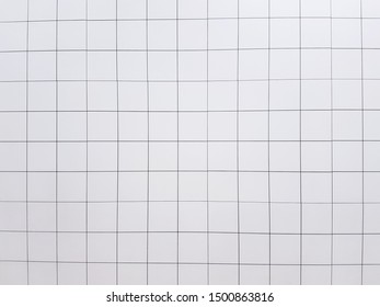 White tile wall. Background and texture concept. Interior design concept.