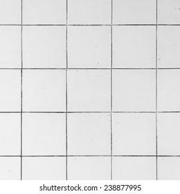 White tiles in a bathroom