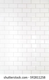 White tiles brick background