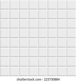 White tiles square texture