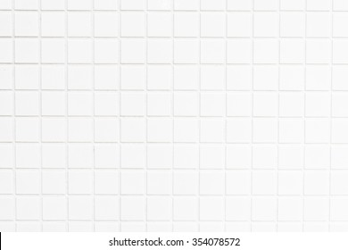 White tiles wall textures for background