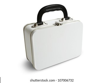 White tin lunch box. Path included