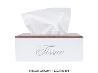 White tissue box isolated