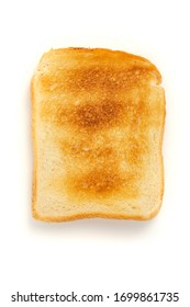 white toasted bread on a white background