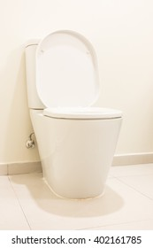 White Toilet seat decoration in Bathroom interior