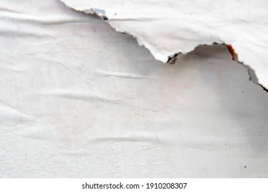 White torn paper white torn background zipper shredded posters posters coarse textures surface background Space for text