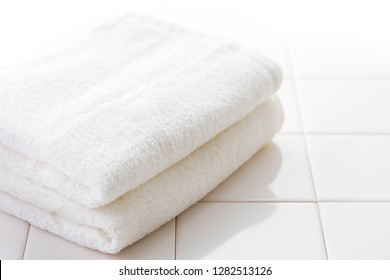 White towel bathroom image