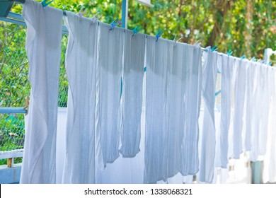 Washed Sheets Hung Dry Images, Stock Photos & Vectors