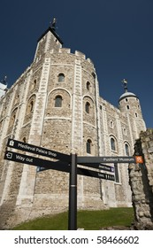 White Tower in the Tower of London, England