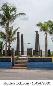 White Town, Pondicherry/India- September 3 2019: Kargil war memorial in the French quarter of Pondicherry