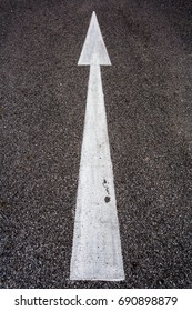 white traffic sign on the road texture