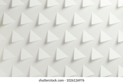 White triangular textured background