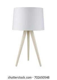 White tripod Floor Lamp isolated on white background