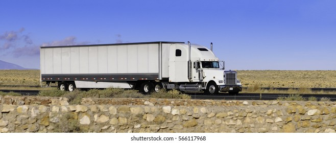 white truck on the move