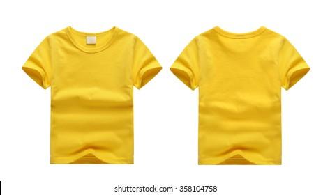 White T-shirt Child yellow