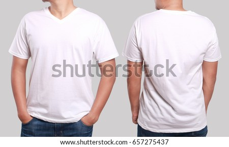 White Tshirt Mock Up Front Back Stock Photo Edit Now 657275437