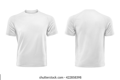 White T-shirts front and back used as design template.