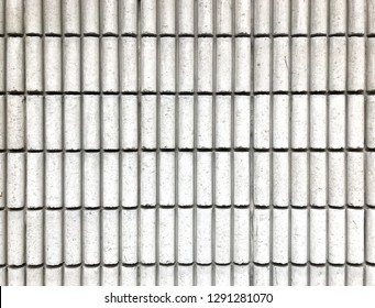 A white tube wall use for background
