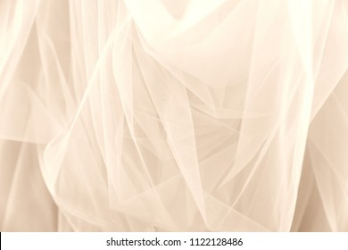 White tulle chiffon bridal veil texture background wedding concept