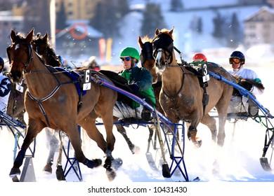 White Turf horse races in St. Moritz, 17. February 2008